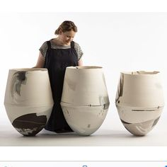 Three statement vessels made for the British Ceramic Biennial 2017. They are on show in the China Hall of the Old Spode Factory in Stoke-on-Trent until the 5th of November. #ceramics #britishceramicsbiennial2017 #stokeontrent #hannahtounsend @bcbfestival