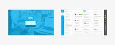 Skype re-design concept by Pijus Aleksandravičius