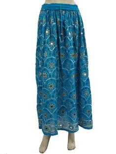 "Women Skirt Bohemian Chic Dodger Blue Beaded Dcrapechic Long Skirts 37"" Mogul Interior, http://www.amazon.com/gp/product/B008SP533I/ref=cm_sw_r_pi_alp_G-rmqb0FQDTSH"