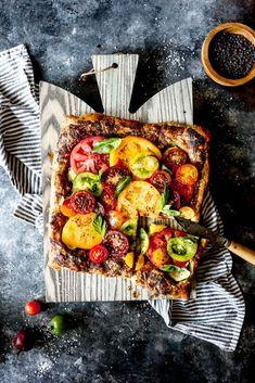 heirloom tomato and zucchini tart