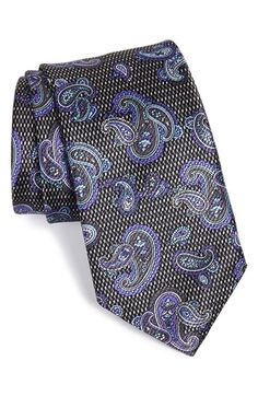 Men's David Donahue Paisley Silk Tie