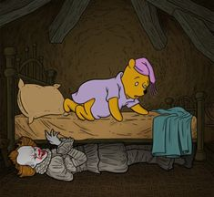 Disney Horror, Lisa Simpson, Winnie The Pooh, Cute, Fictional Characters, Swag, Amazing, Winnie The Pooh Ears, Kawaii