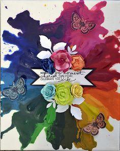 Melted Crayon Canvas - Artist Janine Koczwara
