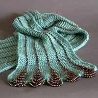 Knitted scarf with beads. So cool.