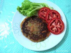 O Mundo de Calíope: Hambúrguer de Batata - Vegano