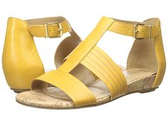 9f69c71bc792 Naturalizer longing saffron yellow leather cork footbed. Ankle Wrap SandalsLeather  SandalsWomen s ...