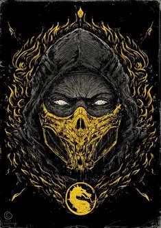 Mortal Kombat Ninjas Mortal Kombat Ninjas on Behance Escorpion Mortal Kombat, Mortal Kombat X Scorpion, Mononoke Cosplay, Mortal Kombat X Wallpapers, Claude Van Damme, Pop Art Wallpaper, Gaming Wallpapers, Comic Games, Video Game Characters