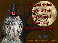 #nerves #nervoussystem #halloween #witch #rsdcrpsangels #rsd #crps #rsdawareness #crpsawareness #angels #angelsproject #pain #illness #chronic #fibro #chronicpain #chronicillness #invisibleillness #awareness #awarenessmatters #spoonie #spoonielife #fibrolife #awarenessposter #disability