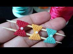 🎀#İğne#oyası Minyatür fiyonk modeli anlatımlı yapılışı Handarbeit needle lace - YouTube