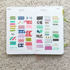 I had pages dedicated to log my washi tape collection to male sure I don't buy the same thing twice. When the spread fills up, I take a picture and upload to Evernote. #bulletjournalchallenge #poppinnotebook #heidiswappwashi