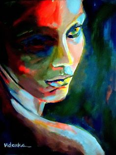 "Saatchi+Online+Artist+Helena+Wierzbicki;+Painting,+""""Thoughtful+mute""""+#art"