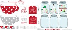 Cute Christmas recipes in a jar (printable)
