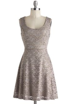 Silver Moon Melodies Dress from ModCloth. Grey Bridesmaids, Short Bridesmaid Dresses, Short Dresses, Dresses For Work, Bridesmaid Ideas, Vestidos Vintage Retro, Retro Vintage Dresses, Knit Dress, Lace Dress