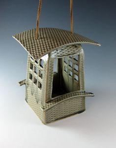 Modern Bird Feeder / Ceramic / Birds /Celadon by Botanic2Ceramic, $70.00