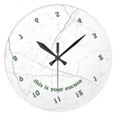 """If you or someone you know is always late, then the """"Never on Time"""" clock is perfect!"""