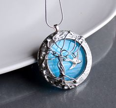 Where Swallows Fly -Artisan OOAK Stained Glass Necklace. Starting at $1 on Tophatter.com!
