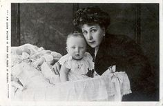 Queen Victoria Eugenie with her eldest son, Alfonso, Prince of Asturias