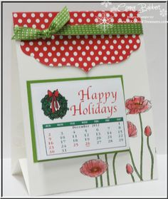 InkspiredTreasures.com » Blog Archive » Pleasant Poppies Calendar - Can be adapted for a card! Love the Pleasant Poppies!