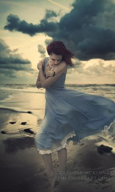 A Summer Wind by Phatpuppy Art, Photo Manipulation via Artistic Photography, Photography Women, Fine Art Photography, I Miss My Mom, Goth Art, Windy Day, Barbie World, Poses, Photo Illustration
