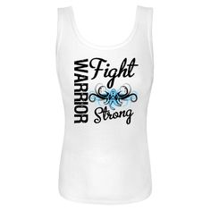 Fight Strong Motto on Thyroid Disease Warrior Women's Tank Tops featuring a cool tribal swirl style with an awareness ribbon in the center to make an impact for your cause #ThyroidDiseaseAwareness
