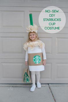 No sew DIY Starbucks Cup Costume | Andrea LeBeau Blog