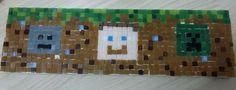 Painel Minecraft em pastilha de vidro