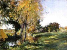 1885. Landscape at Broadway.John Singer