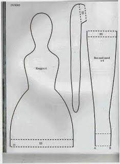 Artesanato e Cia : Tilda com cardigã - moldes