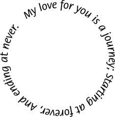 love quotes clip art   Love quote circle border