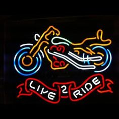 Ja 0026 The Live 2 Ride Neon Bar Sign Has Beautiful Colors Bright Yellows