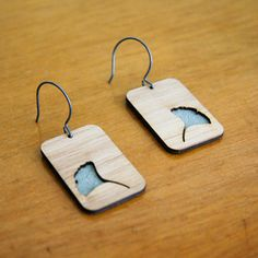 Gingko Earrings, now featured on Fab.