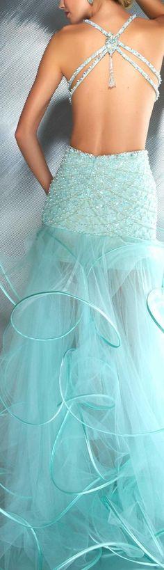 mac duggal couture dress cool mint dress - beautiful colour and details Mint Wedding Dresses, Wedding Gowns, Aqua Wedding, Bridesmaid Gowns, Mac Duggal, Mint Dress, Dress Up, Gown Dress, Beautiful Gowns