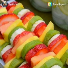 repost via @instarepost20 from @fruiteranbc Tired of those boring fruit platters? How about some Fruit Kabobs? Easy to make, look great and are good for you! #naturesbestcrop #fruitkabobs #paleo...