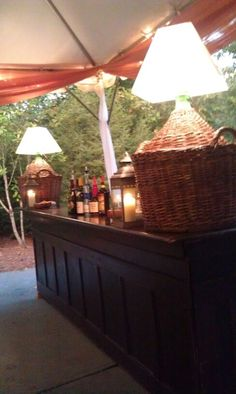 Love this outdoor bar