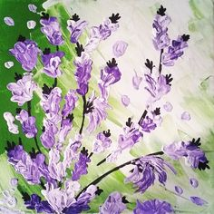 Lavender field #painting #flowers #colorful #summer #summertime #canvas #acrilico