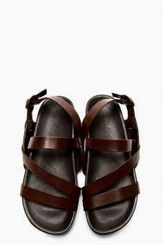 6c8bca38182b mens open toe leather sandals - (not between-toe flipflops) (size