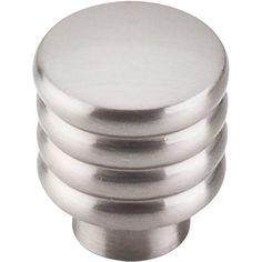 Top Knobs TK265 Modern Deco 1 Inch Diameter Cylindrical Cabinet Knob