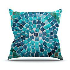 East Urban Home Circular by Sylvia Cook Outdoor Throw Pillow
