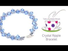 Crystal Ripple Bracelet | Take a Make Break with Beads Direct - YouTube