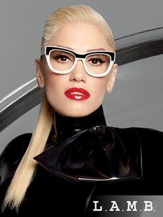 Gwen's style: / LAMB by Gwen Stefani eyewear! Funky Glasses, Cool Glasses, Glasses Frames, Fashion Eye Glasses, Cat Eye Glasses, Gwen Stefani, Stylish Sunglasses, Sunglasses Women, Sunglasses Sale