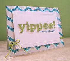 die cut letters, chevron stripes & color combo