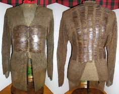 Indian zirah baktar (mail and plate shirt), 17th c, alternating riveted mail and solid links. Mail shirts reinforced with steel or iron plates appear to have been developed first in Persia or Anatolia in the late 14th or early 15th c. Variations of mail-and-plate armor were worn throughout the Middle East by the Persians, Ottomans, and Mamluks. The style probably was introduced into India early in the Mughal period due to Ottoman influence on Mughal India.
