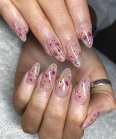49 Fabulous Pink Nail Art Designs Ideas That Looks Cool - Pink Nail Art, Cute Acrylic Nails, Cute Nails, Pretty Nails, Gel Nails, Manicure, Glitter Nails, Flower Nail Designs, Flower Nail Art