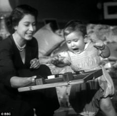 indypendentroyalty: Prince Charles before he turned one playing next to his mother, then Princess Elizabeth (via Diamond Jubilee: Never-before-seen footage shows Charles and Anne buried up to their necks on the beach Princess Diana Brother, Princess Elizabeth, Princess Margaret, Queen Elizabeth Ii, Margaret Rose, Prince Charles And Camilla, Prince Phillip, Royal Nursery, Reine Victoria