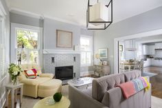 10 Ways To Refresh Your Brick Fireplace Living Room Decor Grey Walls, Revere Pewter Living Room, Grey Wall Decor, Fireplace Remodel, Brick Fireplace, Fireplace Ideas, Victorian Fireplace, Fireplace Inserts, Fireplace Mantels