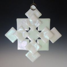 PRISM White Iridized Fused Glass Snowflake Ornament by TheWoCo, $18.00