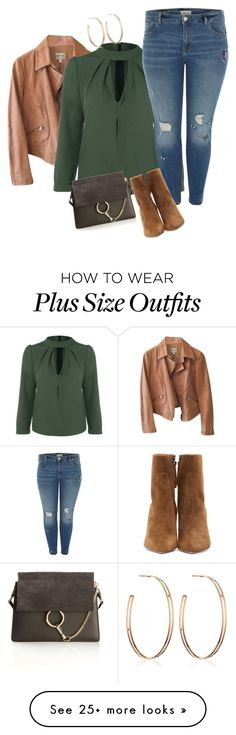 """Plus size casual chic"" by xtrak on Polyvore featuring Armani Collezioni, River Island, Isabel Marant, Chloé and Vita Fede"