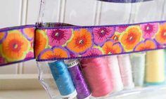 Ribbon and Vinyl Zipper Pouch – Free Sewing Pattern