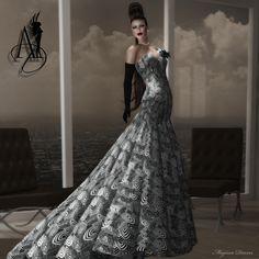 53726b81a Jenie~ mesh gown dress by Angel Dessous Mesh Dress