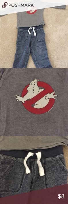 Ghostbusters 👻 outfit Shirt and sweatpants. 25% off of a bundle of 2 or more items!!!! Shirts & Tops Tees - Long Sleeve